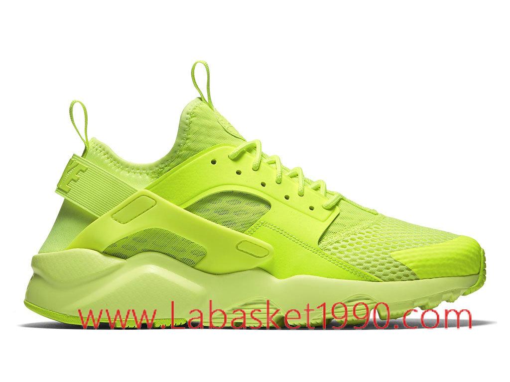 Nike Air Huarache Run Ultra Breathe 833147_700 Chaussures Nike Prix Pas Cher Poru Homme Vert ...