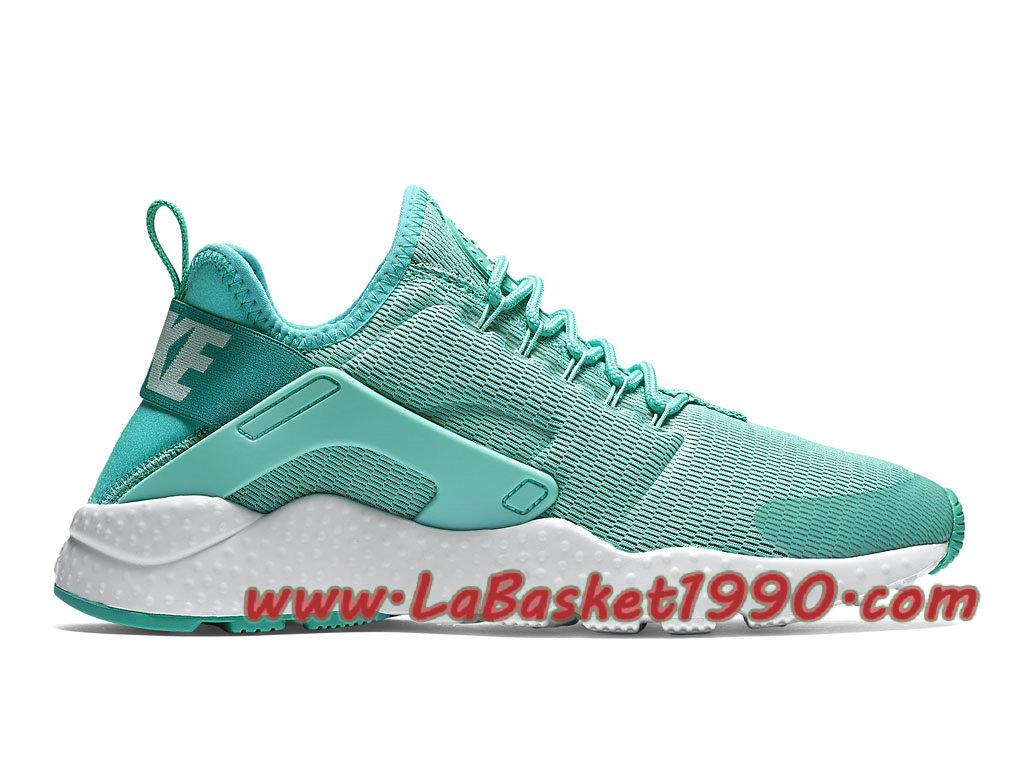 a5f34da97b472 Nike Air Huarache Ultra 819151 300 Chaussures Nike Huarache Pas Cher Pour  Femme Enfant Vert Blanc ...
