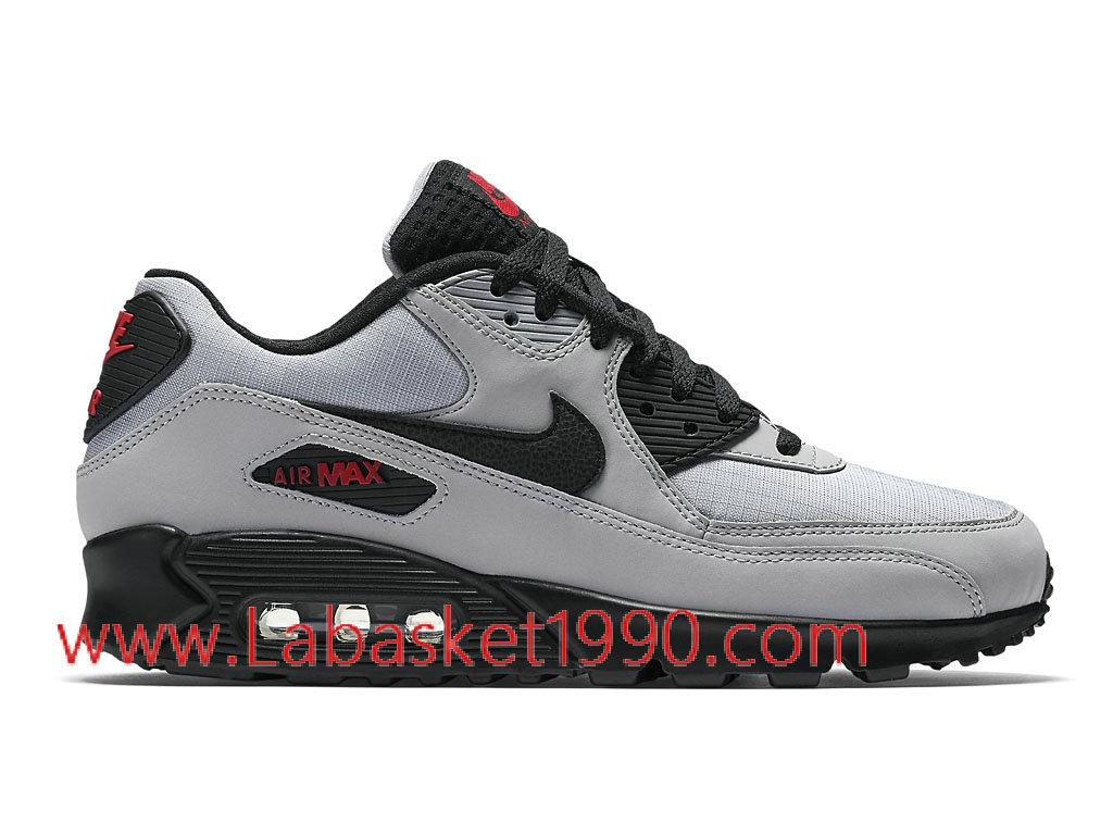 Nike Air Max 90 Essential 537384_049 Chaussures de Running Pas Cher Pour Homme Gris Noir ...