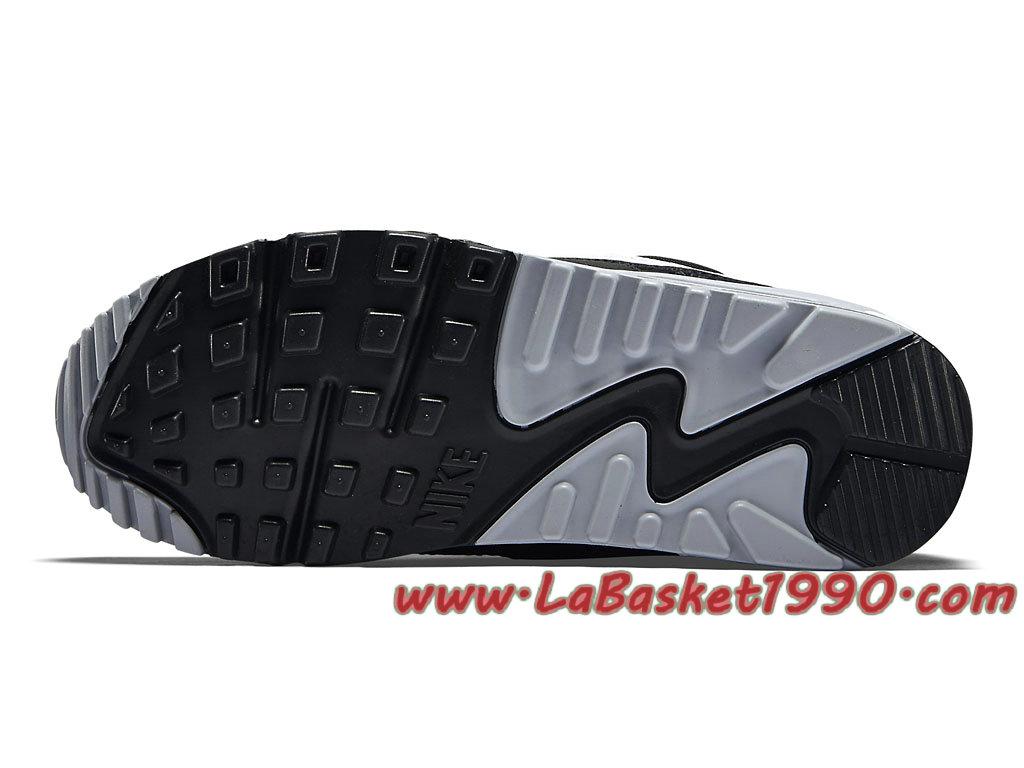 huge discount 9eb94 3e2c6 ... Nike Air Max 90 Essential GS Chaussures Officiel Pas Cher Pour  Femme/Enfant Noir Blanc ...