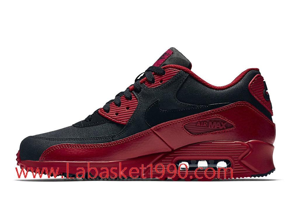 ... Nike Air Max 90 Winter 683282_606 Chaussures de Running Pas Cher Pour Homme Noir Rouge ...