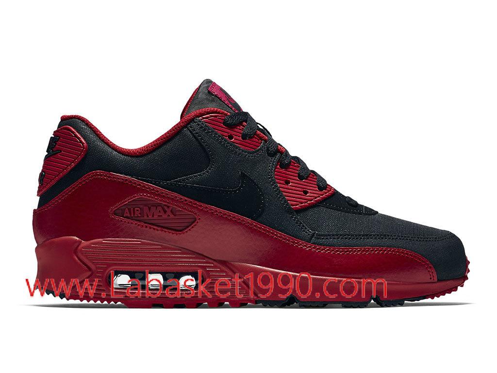 Nike Air Max 90 Winter 683282_606 Chaussures de Running Pas Cher Pour Homme Noir Rouge ...