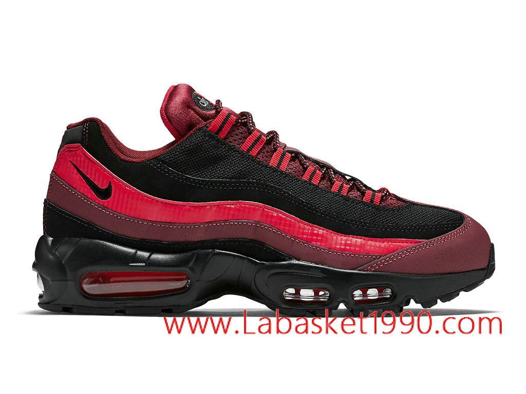 Nike Air Max 95 749766_600 Chaussures Nike Prix Pas Cher Pour Homme Rouge Noir ...