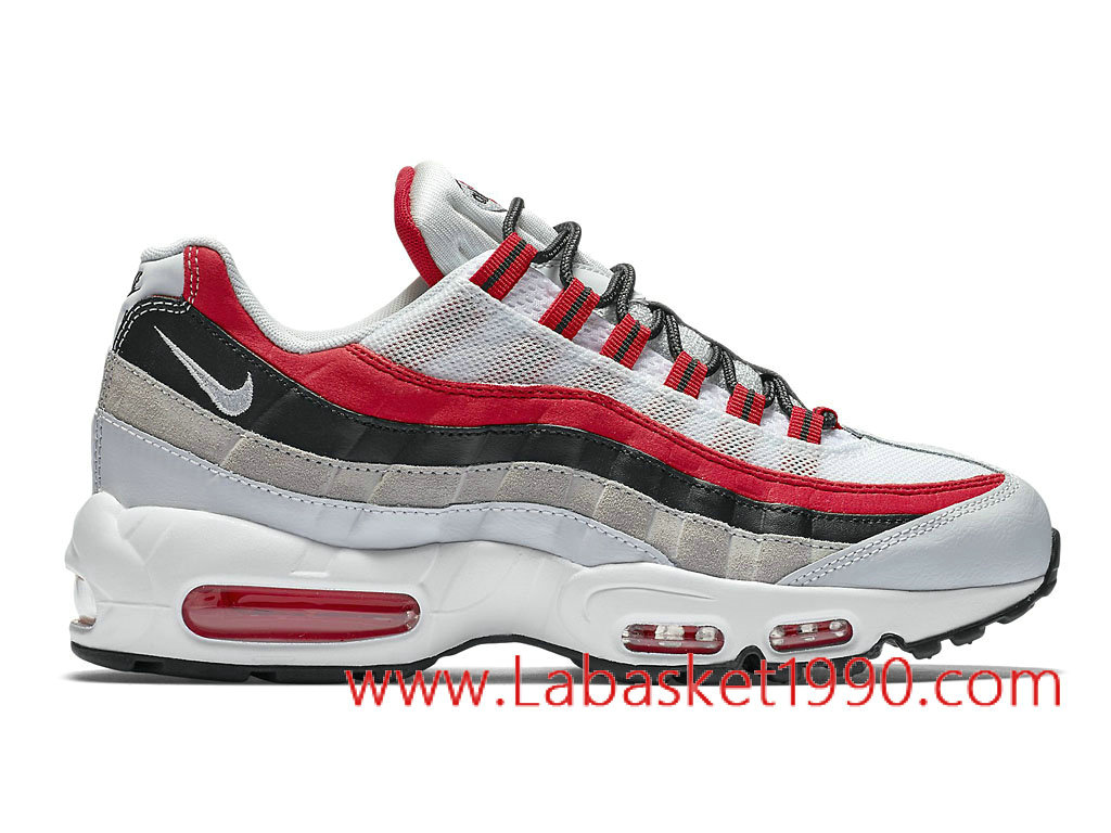 nike chaussure air max 95 blanche et rouge