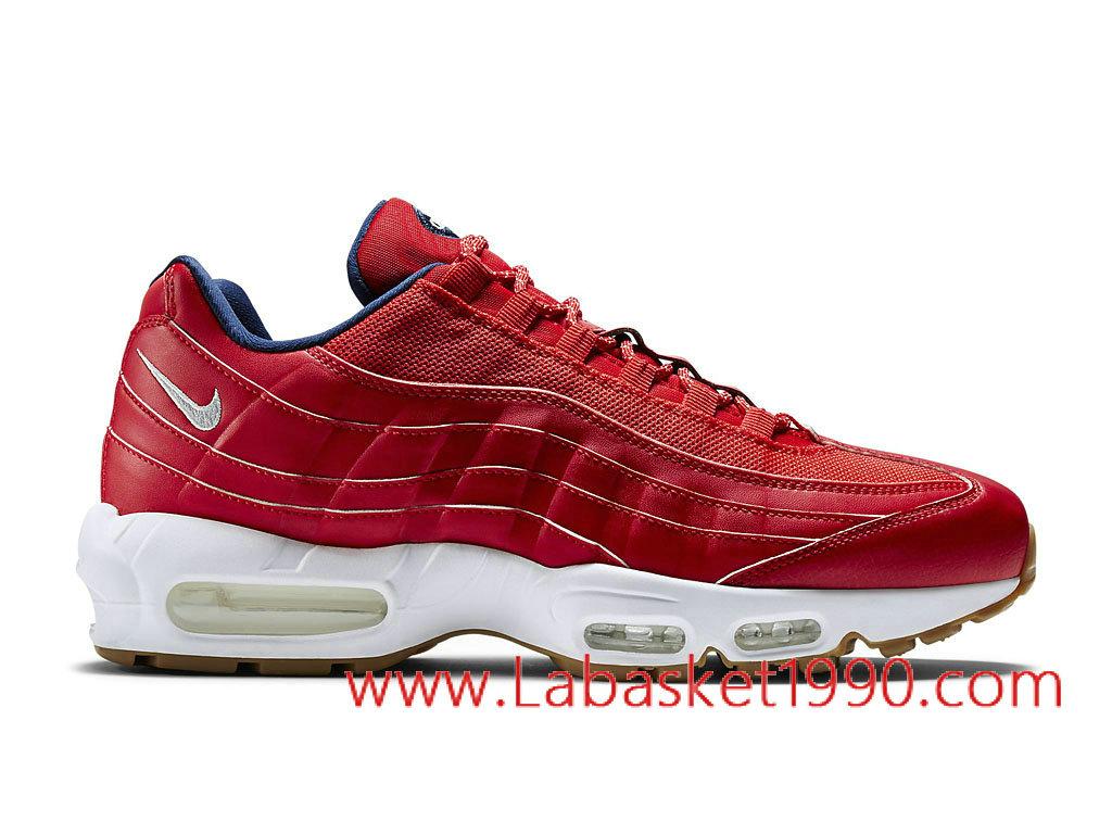 Nike Air Max 95 Premium USA 538416_614 Chaussures Nike Prix Pas Cher Pour Homme Rouge Blanc ...