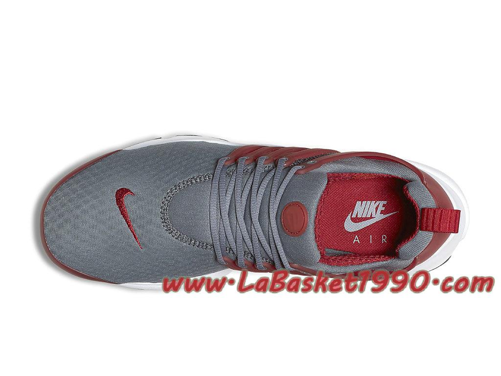 ... Nike Air Presto Essential Chaussures de Running Pas Cher Pour Homme Gris Rouge 848187-008 ...