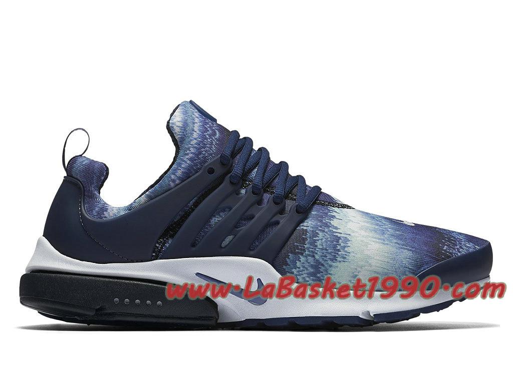 Nike Air Presto GPX Blue Waves Chaussures de Running Pas Cher Pour Homme Bleu Noir 848188 ...