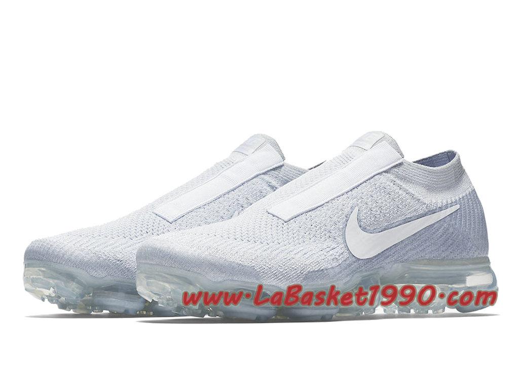 competitive price f10b5 aaf22 ... Nike Air Vapormax Laceless Pure Platinum Chaussures Nike Vapormax 2018  Pas Cher Pour Homme Blanc AQ0581 ...