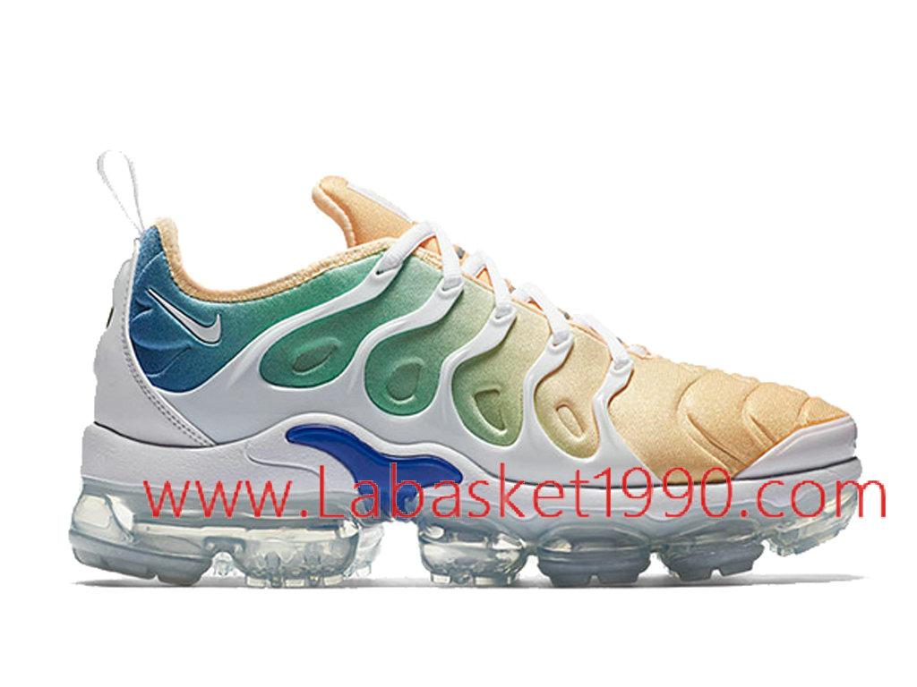 the latest f4d29 520d3 Nike Air VaporMax Plus Chaussures Officiel Prix Pas Cher Pour Homme Blanc  Bleu AO4550-100 ...