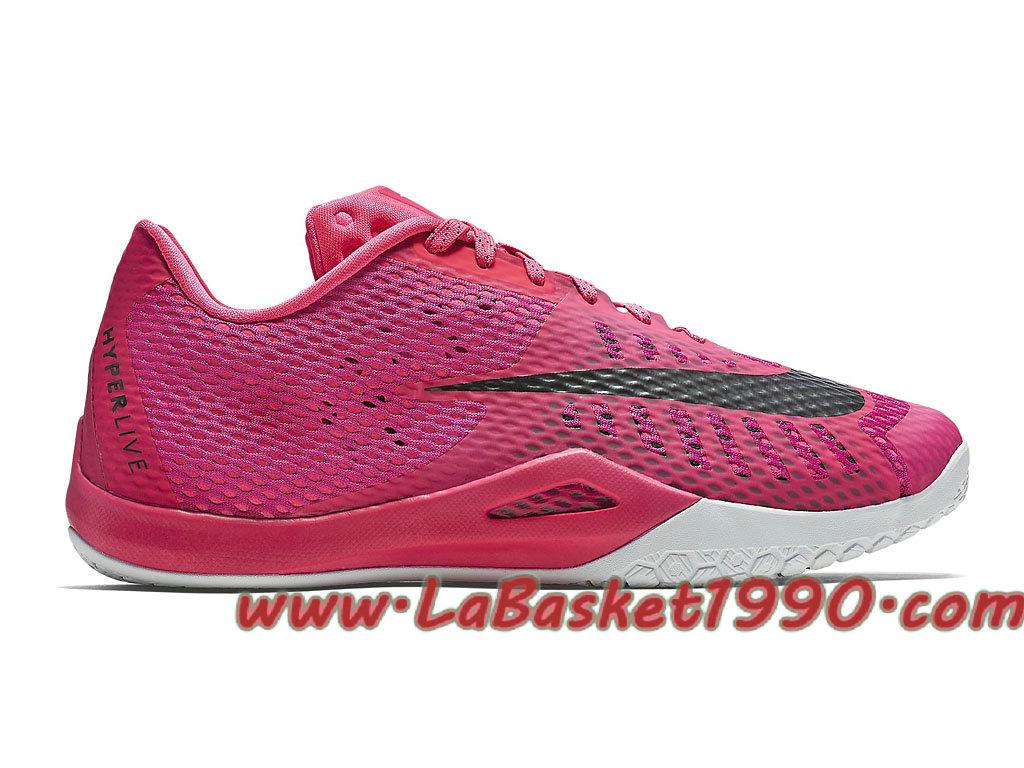 détaillant en ligne 13cd5 d3a25 Nike HyperLive EP 820284-606 Chaussures Nike Basket Pas Cher Pour Homme  Rose Noir-1710220371-Chaussure Basket Homme Nike | Nike Officiel Site!
