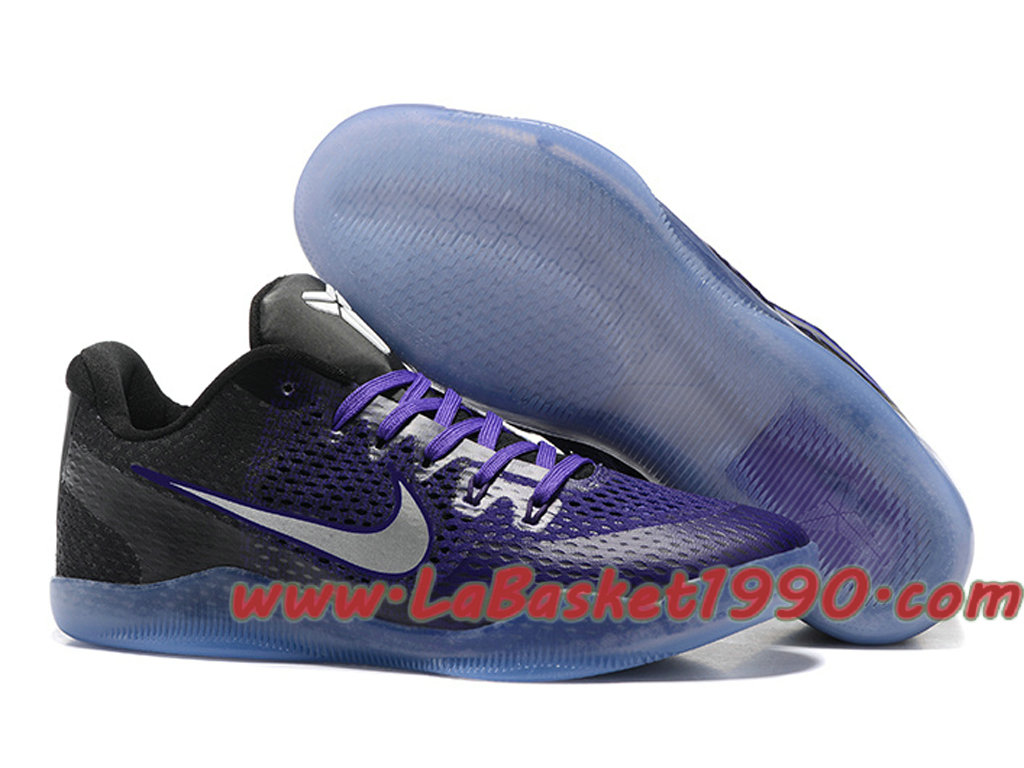 size 40 1b547 69521 Nike Kobe 11 GS Chaussures Nike Basket Pas Cher Pour Femme Black Pourpre ...