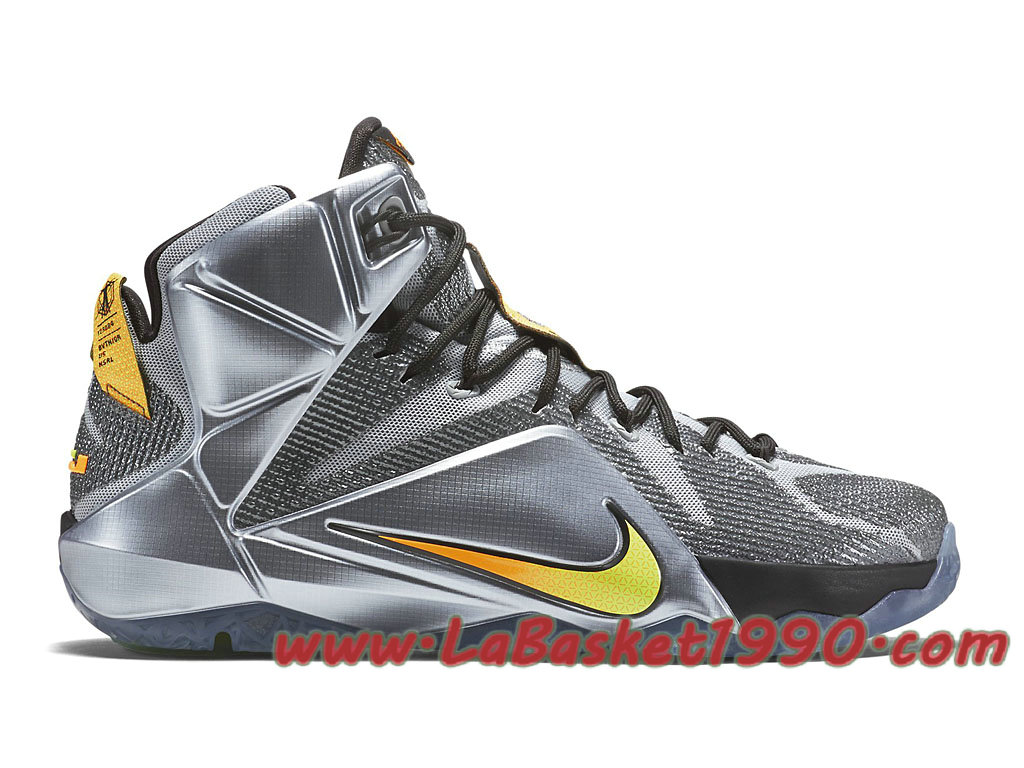 on sale 46397 5a36f ... get nike lebron 12 684593 080 chaussures nike basket pas cher pour homme  gris or 125b0