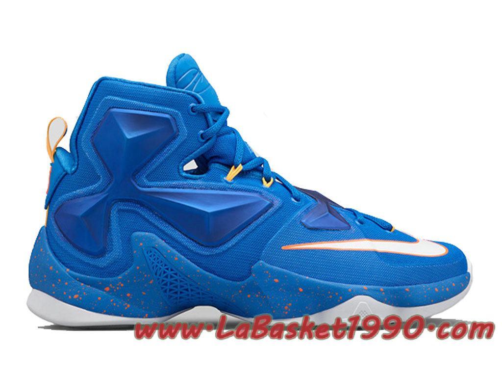factory price 1511f 5d6b8 Nike LeBron 13 Balance 807219-418 Chaussures Nike Basket Pas Cher Pour Homme  Bleu Blanc ...