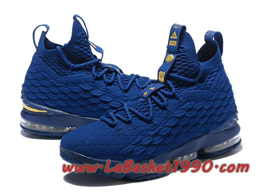 a720680d8db30 ... Nike LeBron 15 XV Chaussures Nike Prix Pas Cher Pour Homme Bleu 897648-ID1  ...