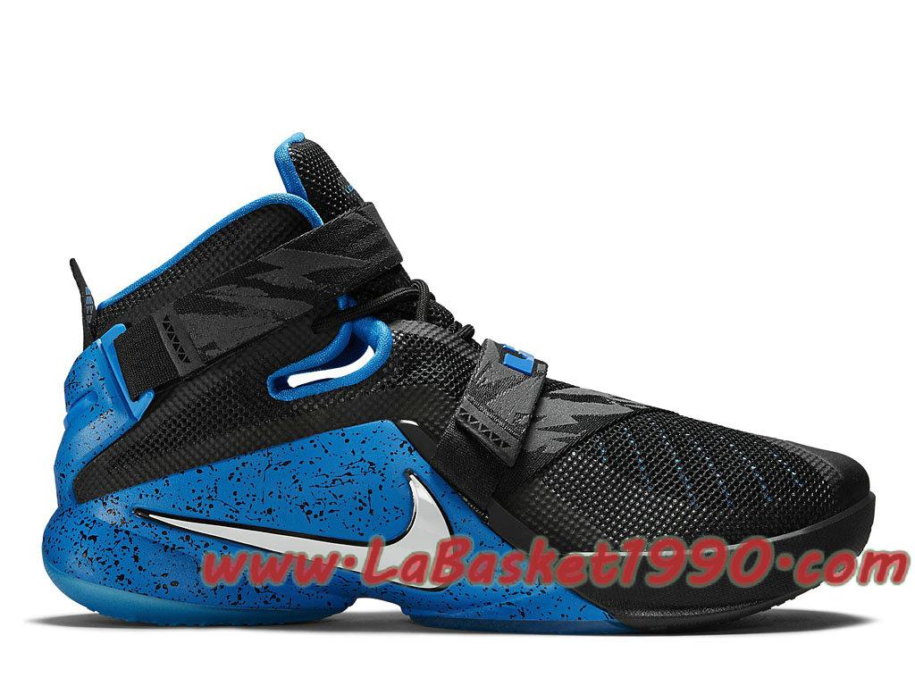 big sale b4385 4eca7 Nike Lebron Zoom Soldier 9 749490 014 Chaussures Nike Prix Pas Cher Pour  Homme Noir Bleu ...