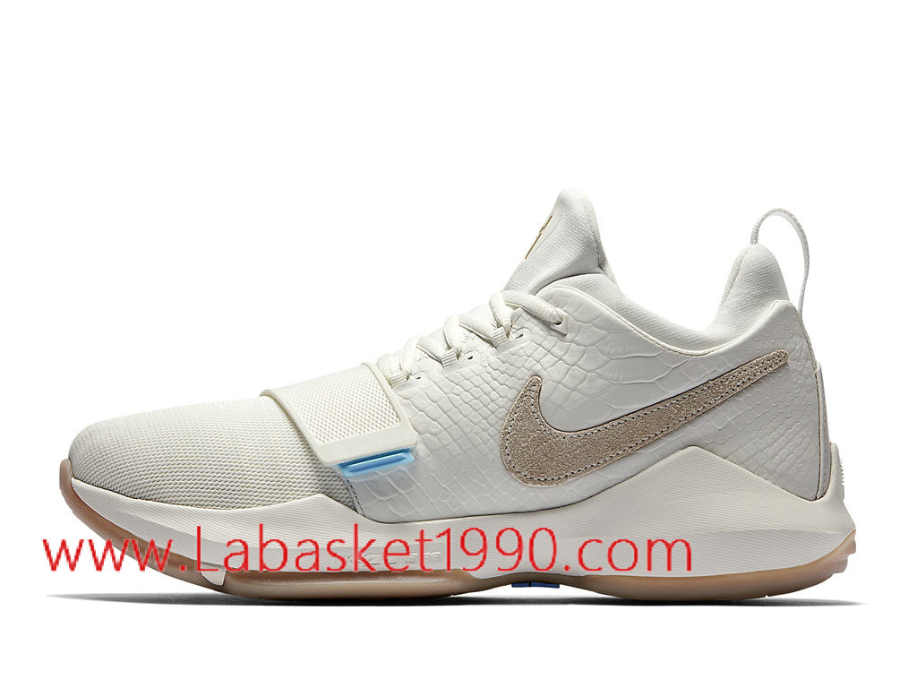Nike PG 1 Ivory Chaussures de BasketBall Pas Cher Pour Homme