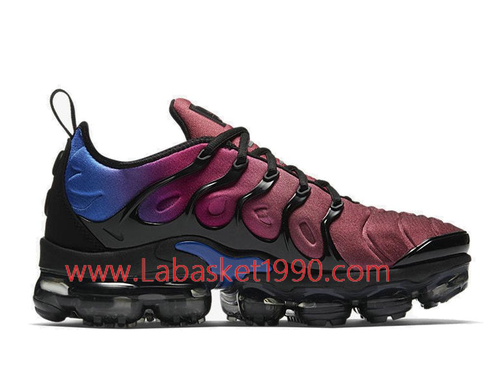 premium selection e15b9 c5aa8 Nike WMNS Air VaporMax Plus Chaussures Nike 2018 Pas Cher Pour Femme Enfant  Rouge Bleu ...