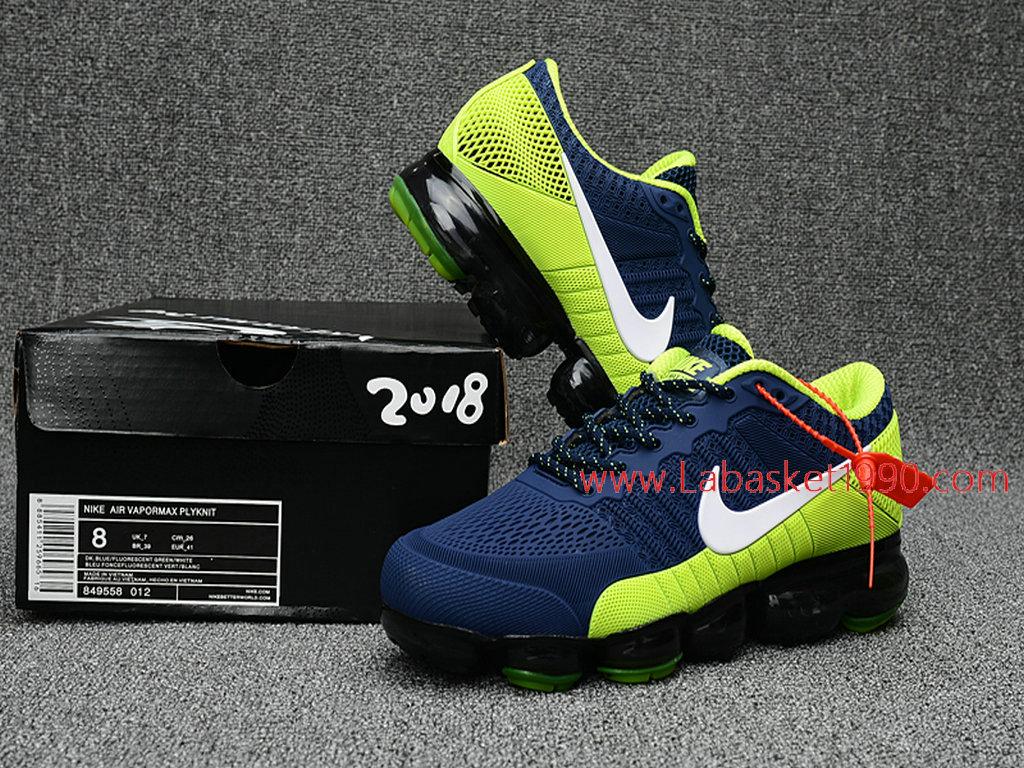 ... Officiel Nike Air Max 2018 Chaussures Nike VaporMax Pas Cher Pour Homme Vert Bleu